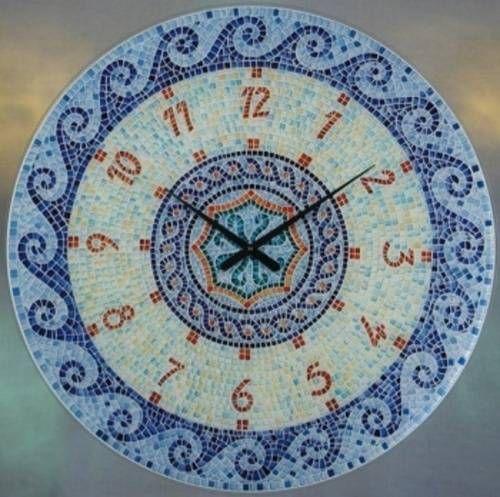 Velké skleněné hodiny AMS 9231 Mozaika 147444 Hodinářství