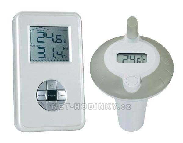 Bazénový teploměr bezdrátový + měří teplotu vzduchu 151602