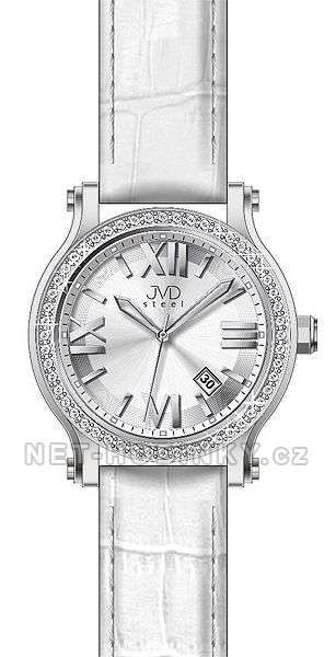 Dámské náramkové hodinky s datem JVD stříbrná 151578