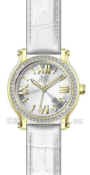 Dámské náramkové hodinky s datem JVD zlatá 151577
