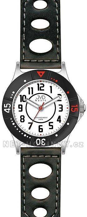 Dětské náramkové hodinky s koženým páskem JVD J7087.1.2 151232 J7087.1.2