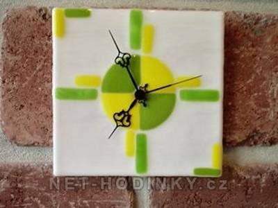 autorské hodiny Fusingové skleněné nástěnné hodiny 150863