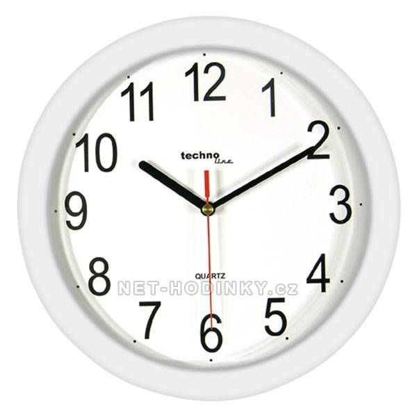 Kulaté plastové nástěnné hodiny Technoline - více barev 151100 červené