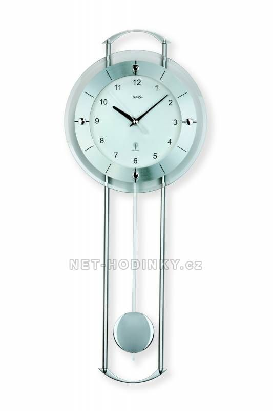 Hodiny na zeď Kyvadlové hodiny AMS 5254 149820 Designové hodiny