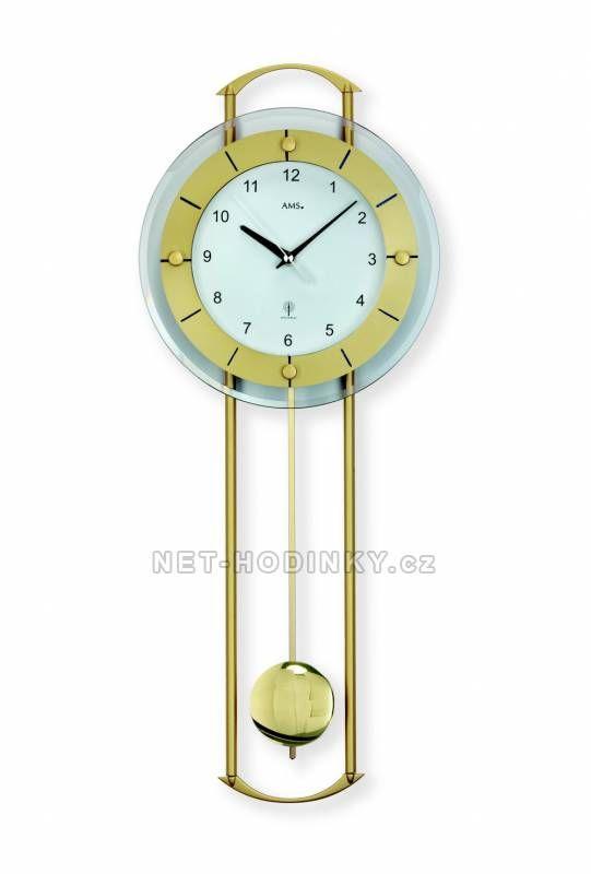 Hodiny na zeď Kyvadlové hodiny AMS 5255 149822 Designové hodiny