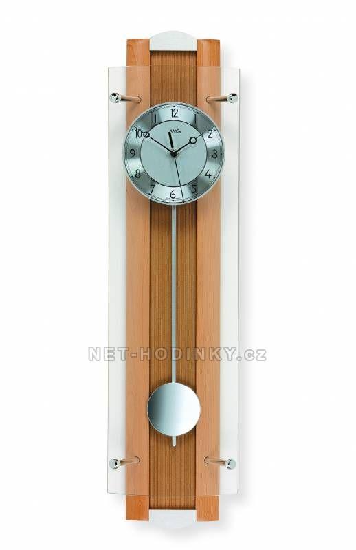 Hodiny na zeď Kyvadlové hodiny AMS 5259/18, 5259/1 149910 Designové hodiny