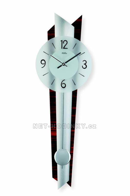 Hodiny na zeď Kyvadlové hodiny AMS 7311 149916 Designové hodiny