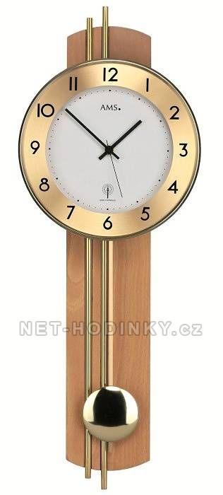 Moderní kyvadlové hodiny AMS 5266/1, 5266/18 151272 AMS 5266/18