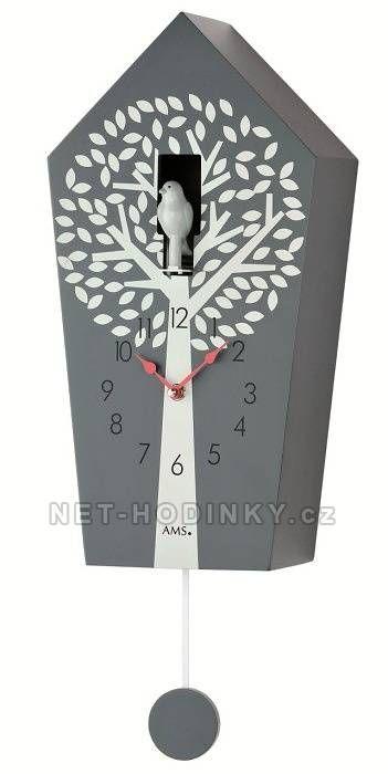 Moderní kyvadlové hodiny AMS 7287 151278