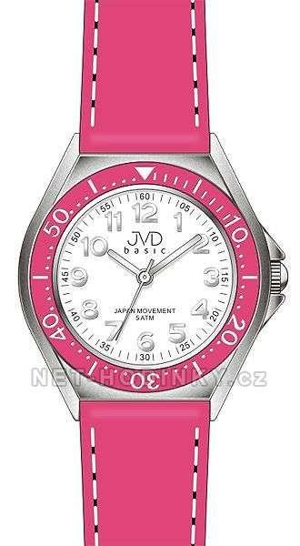 Náramkové hodinky JVD basic J7102.1 tm. modrá, J7102.3 růžová 151617 modrá