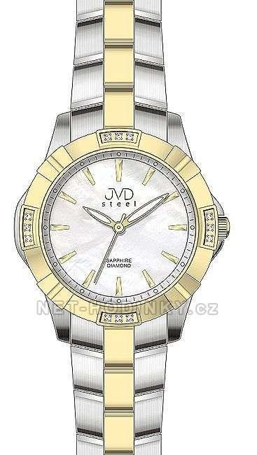 Náramkové hodinky s pravými diamanty JVD steel J4073.2.2 151847