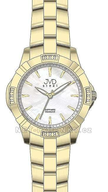 Náramkové hodinky s pravými diamanty JVD steel J4073.3.1 151848