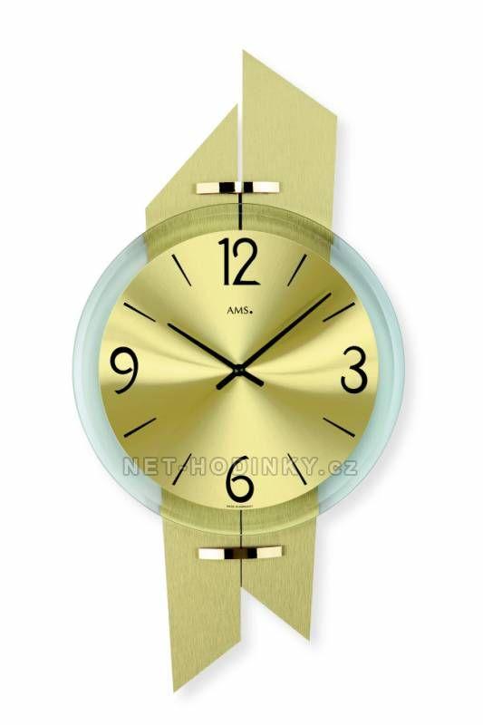 Hodiny na zeď Nástěnné hodiny AMS 9344 149926 Designové hodiny