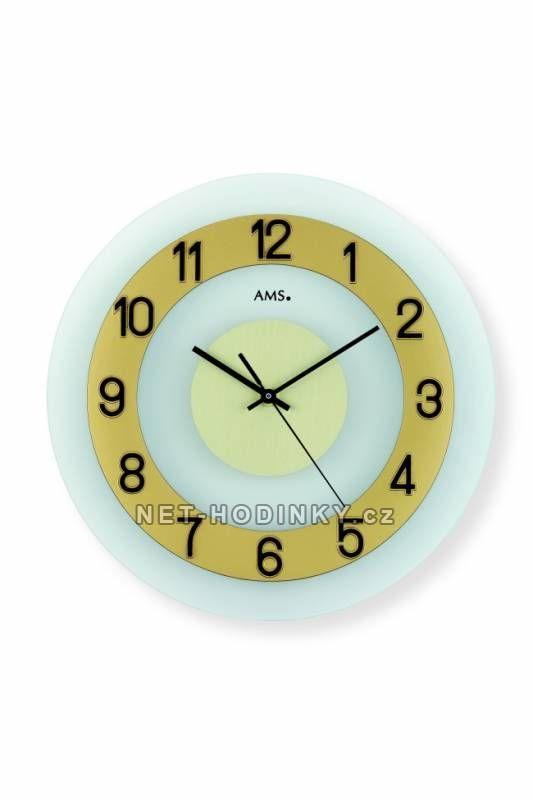 Hodiny na zeď Nástěnné hodiny AMS 9354, AMS 9352, AMS 9355 149927 autorské hodiny Designové hodiny