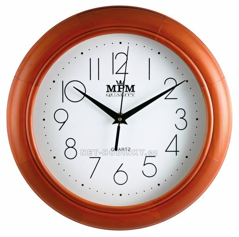 autorské hodiny Nástěnné hodiny dřevěné MPM FR26Q, FR26M 150444 FR26M - hnědá (do oranžova