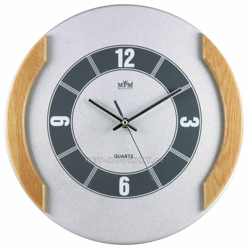 Nástěnné hodiny dřevěné MPM QHA3876A, QHA3876B 150445 QHA3876A
