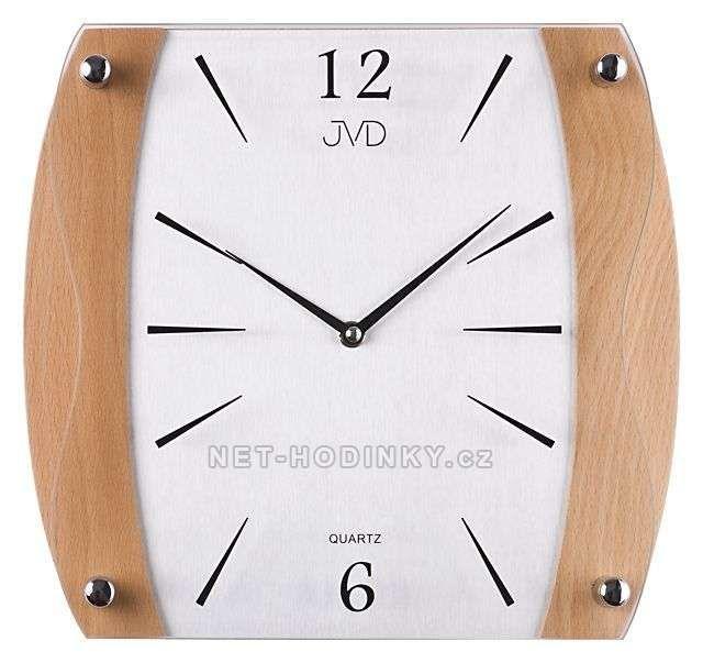 Nástěnné hodiny JVD N11027.41.1 třešeň, N11027.68.7 olše, N11027.11.2 ořech 151680 NS sweep 11027.11.8 ořech