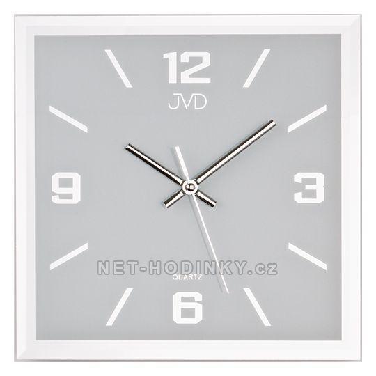 Nástěnné hodiny JVD N26113.2.1. N26113.3.2 čtvercové hodiny šampaň 151777 N26113.7.3