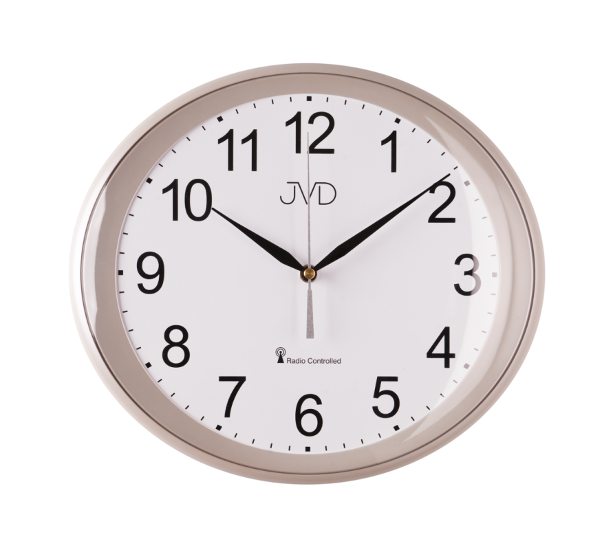 Nástěnné hodiny JVD RH64 Rádiem řízený čas z Frankfurtu n. M. (RCC) 151661 RH 64.1.1