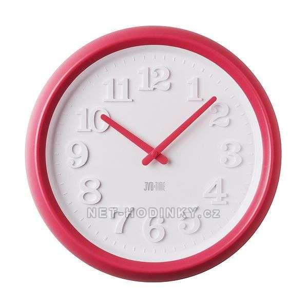 Nástěnné hodiny JVD TIME H101 151637 růžová