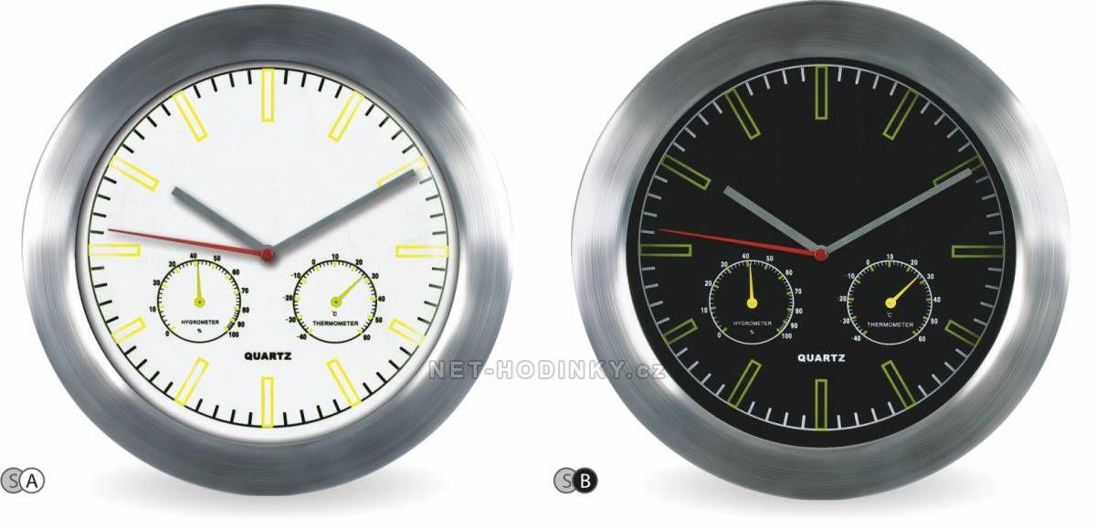 MPM Quality Nástěnné hodiny kovové M2411TH 150404 M2411TH bílá