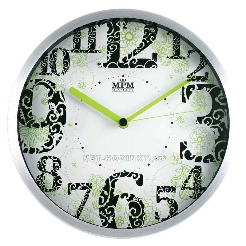 MPM Quality Nástěnné hodiny kovové RB3312NB.GN 150440