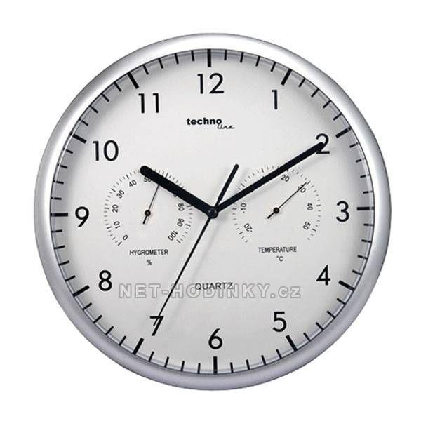Nástěnné hodiny s vlhkoměrem a teploměrem Technoline 151102