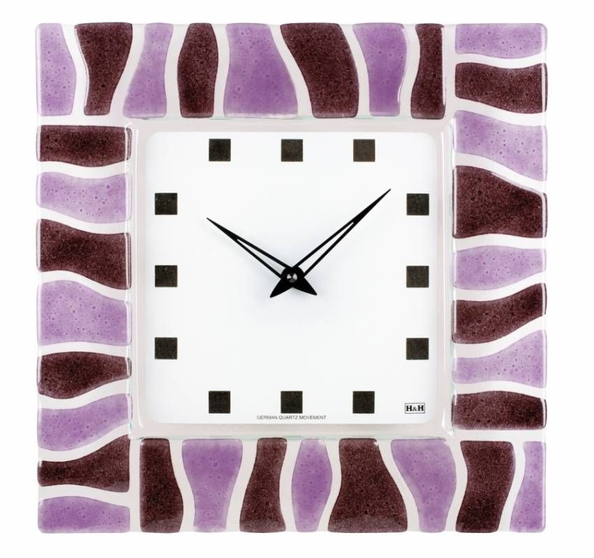 Hodiny na zeď Nástěnné hodiny skleněné 1162.1, 1163.2, 1164.3, 1165.4 147460 H&H Designové hodiny