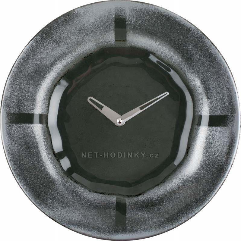 Hodiny na zeď Nástěnné hodiny skleněné 1173.3 kulaté 150159 H&H Designové hodiny