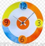 Nástěnné hodiny skleněné pro děti  1152.4,1153.5 kulaté 151061