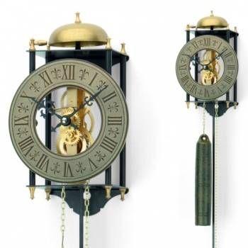 Hodiny na zeď Originální mechanické kyvadlové kovové hodiny AMS 301, AMS 302 147455 Designové hodiny