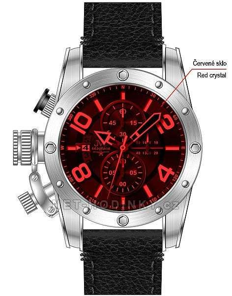 Pánské náramkové hodinky JVD Seaplane černá 151593