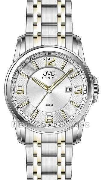 Pánské náramkové hodinky s datem JVD bílá 151574