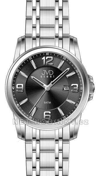 Pánské náramkové hodinky s datem JVD černá 151573