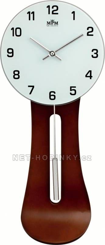 Pěkné dřevěné kyvadlové nástěnné hodiny 150880 barva světlá