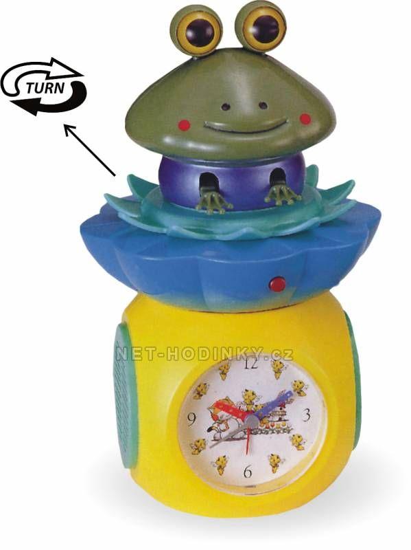 autorské hodiny Plastový dětský budík PT017-13.7i žabka 150486