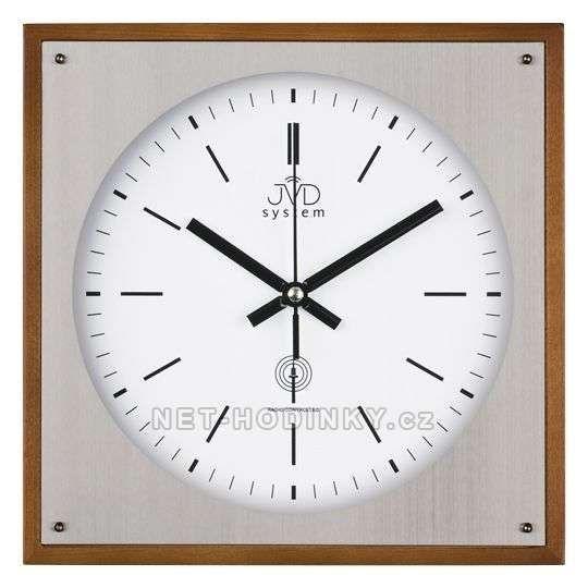 JVD Rádiem řížené nástěnné hodiny RH28082/41.1 třešeň, RH28082/11.2 ořech, RH28082/68.3 olše 151721 RH28082/41.1 třešeň