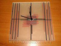 Skleněné nástěnné hodiny ruční výroba 150864
