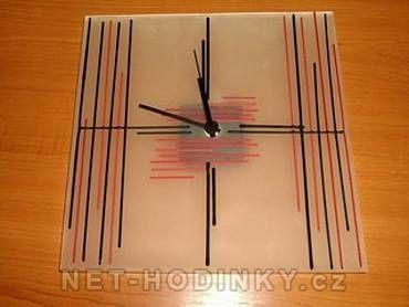 autorské hodiny Skleněné nástěnné hodiny ruční výroba 150864