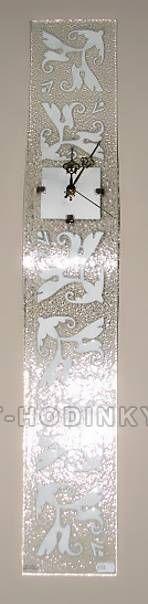 autorské hodiny Velké skleněné nástěnné hodiny Fusing 150871