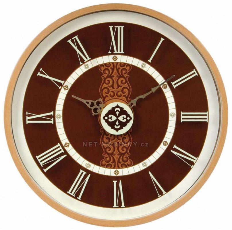 Nástěnné hodiny dřevěné kulaté na zeď