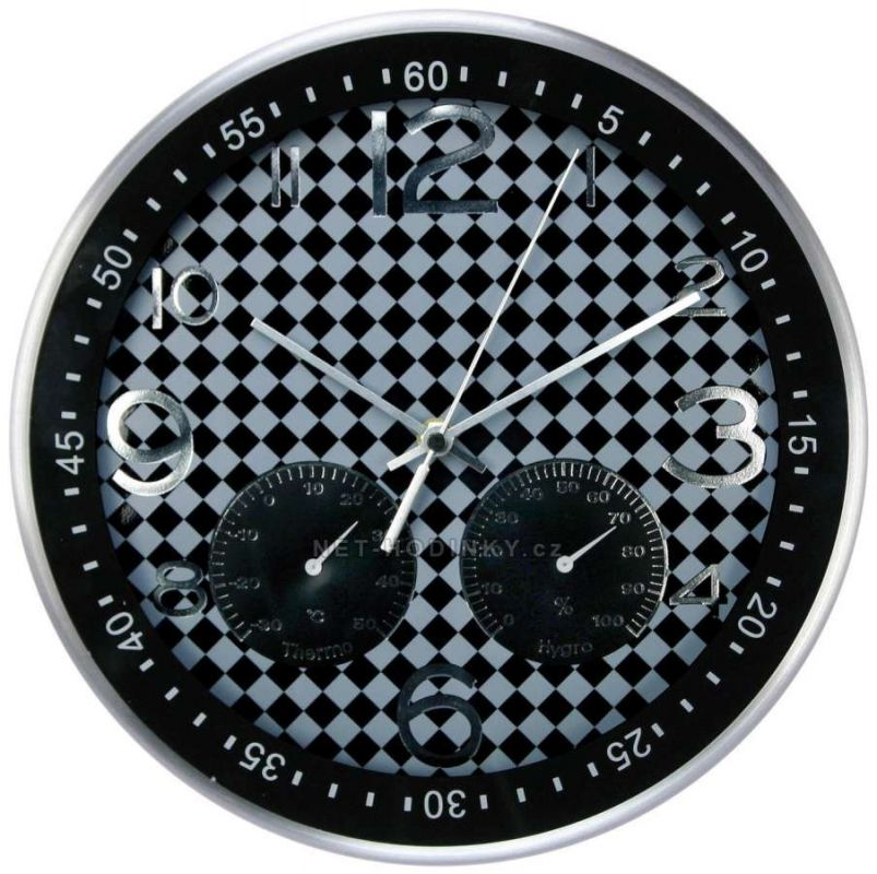 Hodiny nástěnné kovové (HDA9029.W) SWEEP 153060