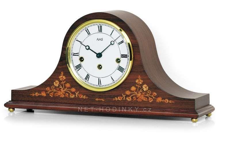 Mechanické stolní hodiny AMS 2188/1 ořech 152064