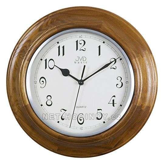 Nástěnné hodiny JVD quartz NS27043.11.1 ořech, NS27043.23.2 tmavý dub, NS27043.41.3 třešeň 152325 NS27043.11.1 ořech