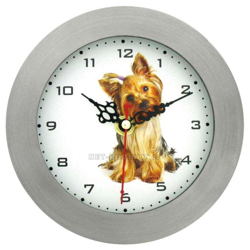 Nástěnné kovové hodiny JORKŠÍR... 153130 H6011A - koník