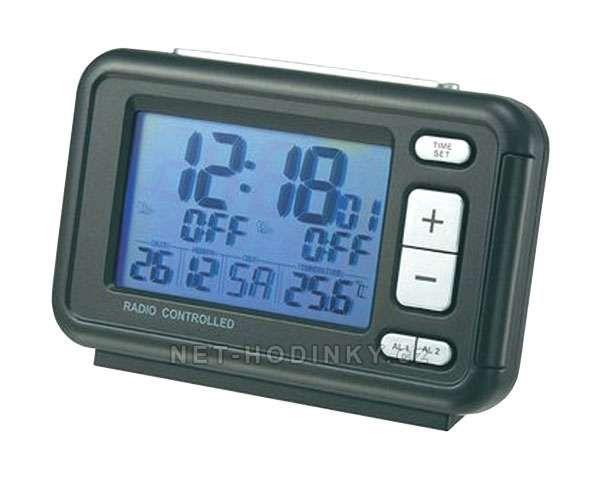 La Crosse Technology Budík DCF s velkým displejem, Dvojitý alarm 153941