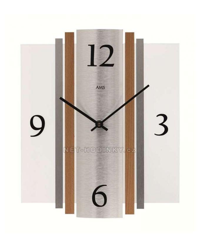 Hodiny quartzové AMS 9390 hodiny na zeď hranaté 154169