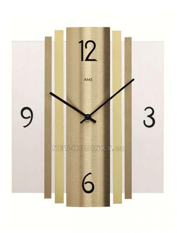 Hodiny quartzové AMS 9391 hodiny na zeď hranaté 154170