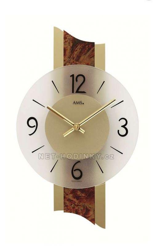 Hodiny quartzové AMS 9393 hodiny na zeď kulaté 154172 Hodiny