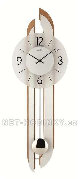 Kyvadlové hodiny pendlovky AMS 7330/18 buk 154151